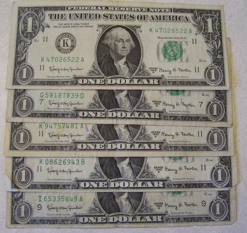 five dollars photo