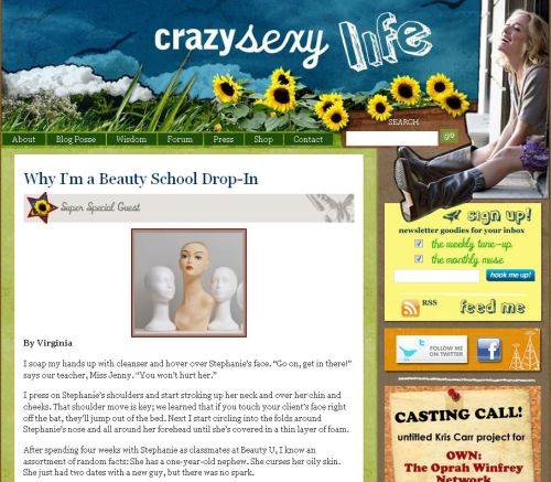 Screen grab photo of Beauty Schooled on Crazy Sexy Life