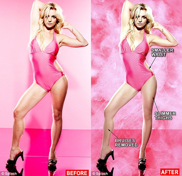 Britney Spears' Candies Ad not retouched photos