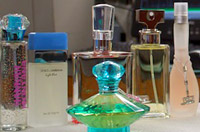 Photo of celebrity fragrance bottles tested by Campaign for Safe Cosmetics