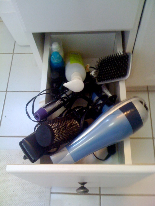 Photo of my hair blowout supplies