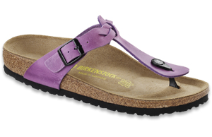 Photo of Lavender Natural Leather Luxor Birkenstock