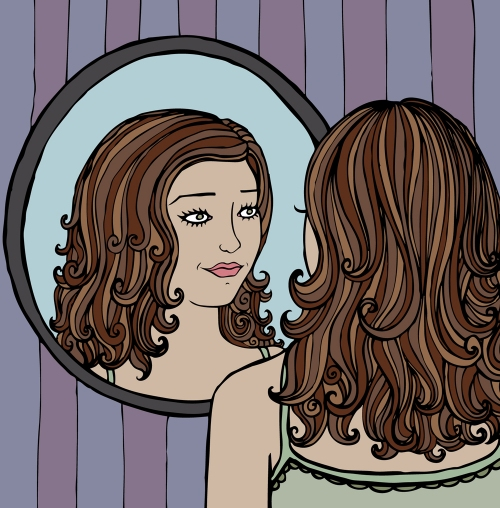 Mirror Drawing by Justine of Beauty Dart
