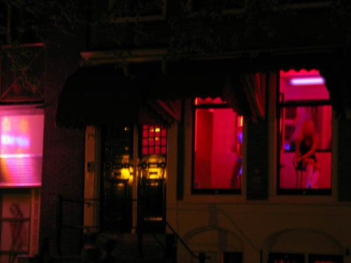 photo of Amsterdam's red light district