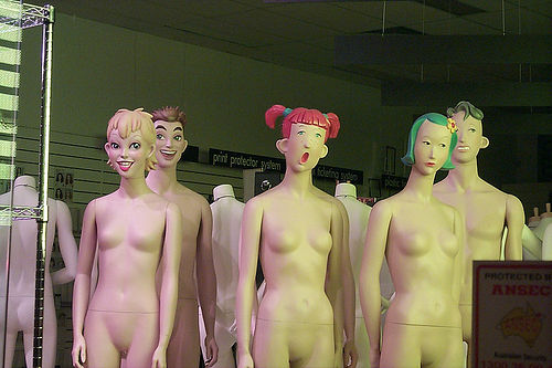 Photo of scary clothing mannequins