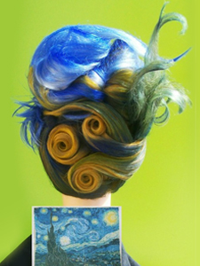 Starry Night Mannequin Head