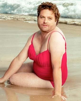 fat guy in bikini