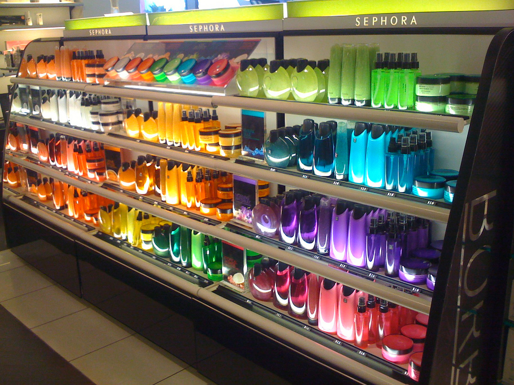 Sephora rainbow display