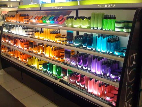 Sephora rainbow display