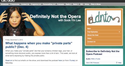 Definitely Not the Opera