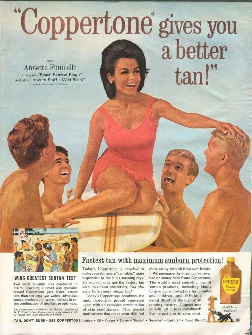 Vintage Coppertone Tanning Ad