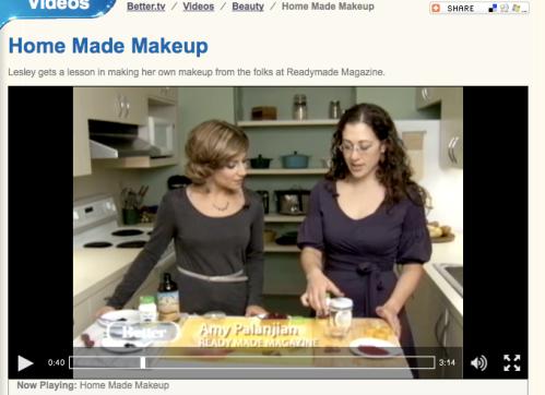 Amy Palanjian Homemade Makeup on Better TV