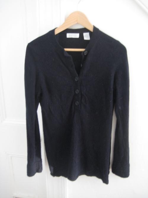 Navy/Black Barney's Henley-Style Sweater