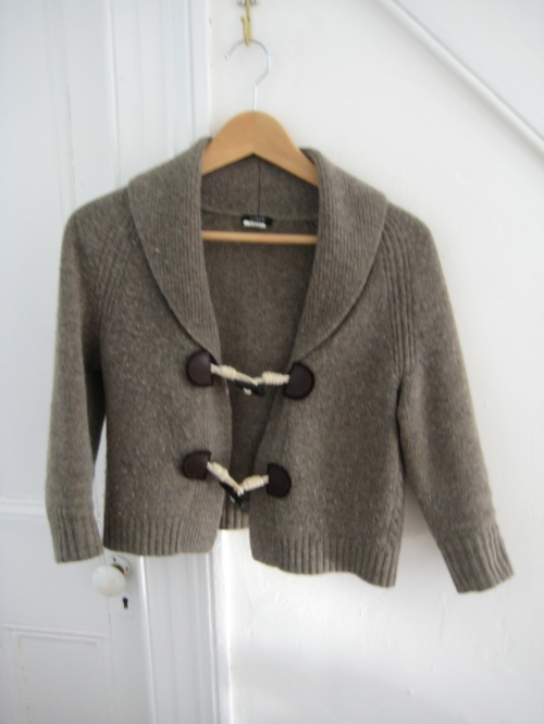 J. Crew Cowl-Neck Cardigan with Toggle-y Things