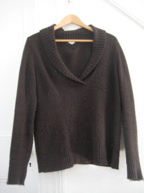 J. Crew Brown Cowl-Neck Sweater