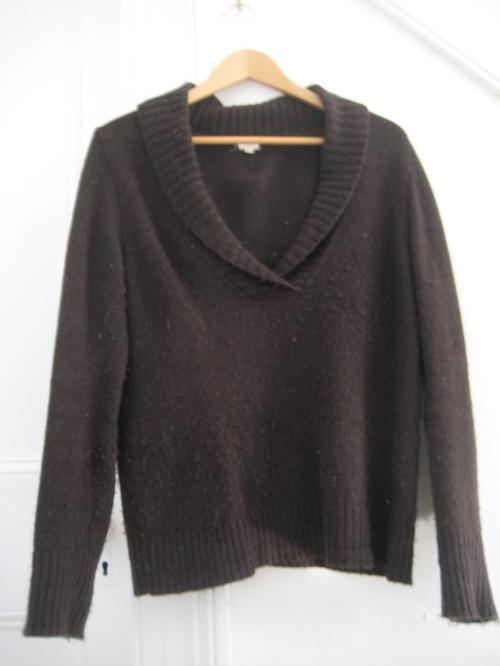 J. Crew Brown Cowl-Neck Sweater