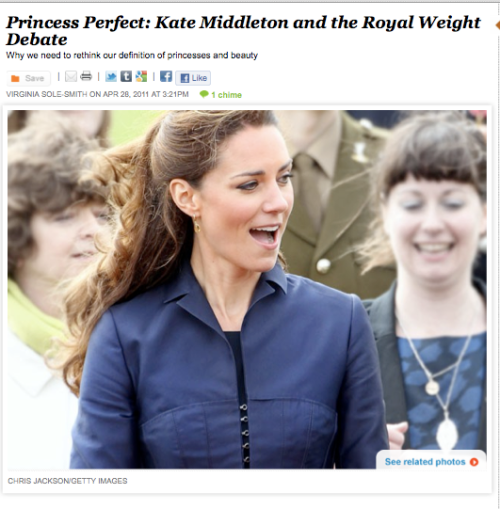 Princess Perfect Kate Middleton Royal Wedding Never Say Diet Virginia Sole-Smith