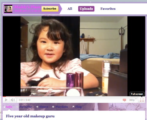Maddy's Place 5 Year Old Makeup Guru