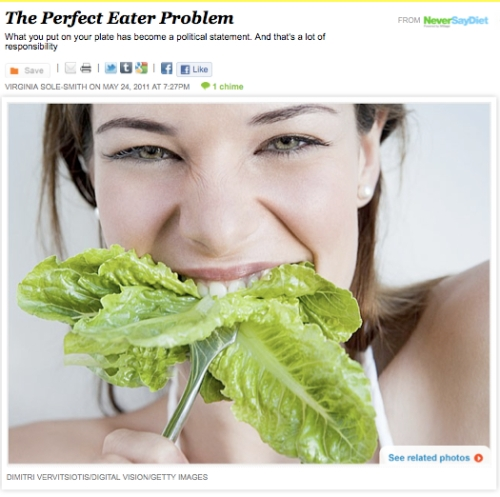 iVillage Never Say Diet Virginia Sole-Smith Perfect Eaters Vegetarians