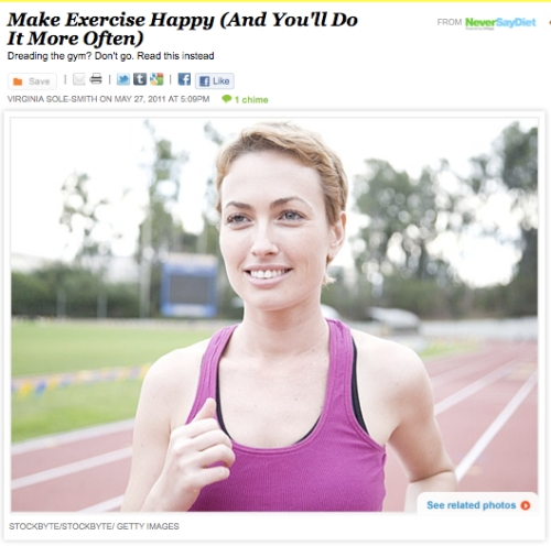 iVillage Never Say Diet Happy Exercise Virginia Sole-Smith