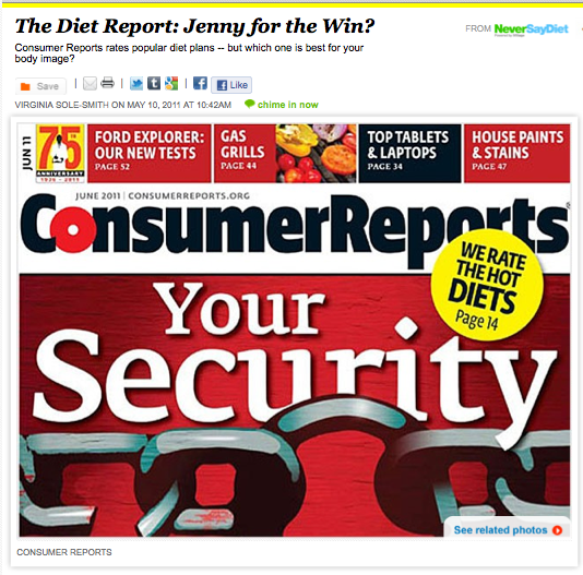 iVillage Never Say Diet Consumer Reports Diet Report Virginia Sole-Smith