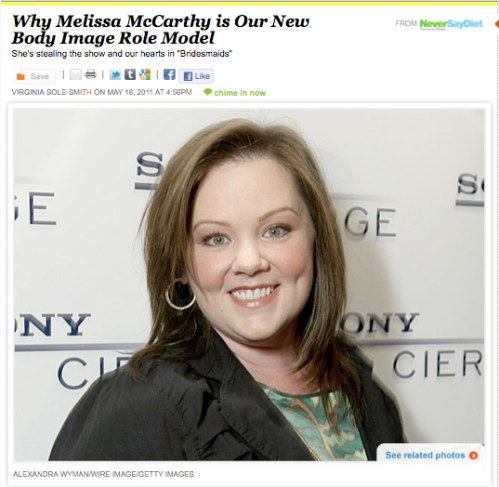 Never Say Diet Melissa McCarthy Virginia Sole-Smith
