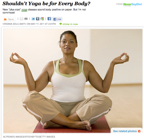 iVillage Never Say Diet Virginia Sole-Smith Yoga