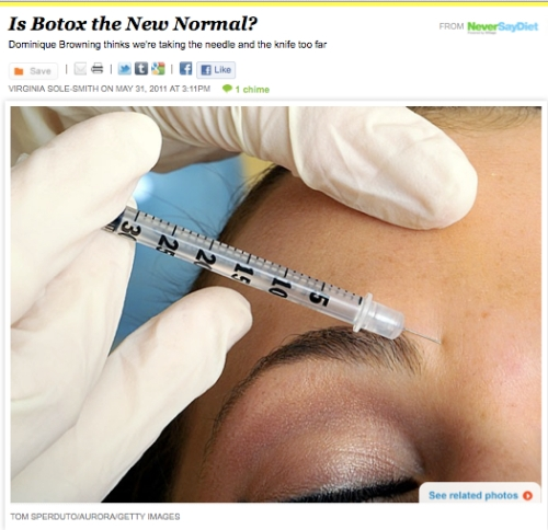 iVillage Never Say Diet Virginia Sole-Smith Is Botox the New Normal?