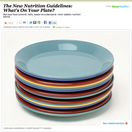 iVillage Never Say Diet MyPlate Nutrition Guidelines Virginia Sole-Smith