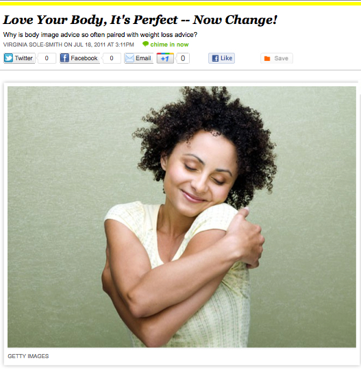 iVillage Never Say Diet Virginia Sole-Smith Love Your Body Now Change!