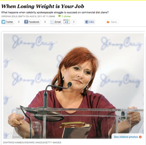 iVillage Never Say Diet Virginia Sole-Smith Celebrity Weight Loss Spokespeople