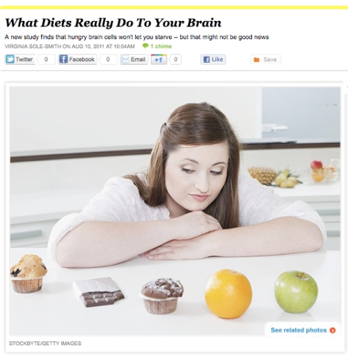 iVillage Never Say Diet Virginia Sole-Smith diets eat brain cells