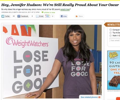 iVillage Never Say Diet Virginia Sole-Smith Jennifer Hudson