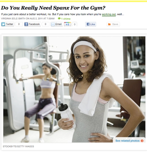 iVillage Never Say Diet Virginia Sole-Smith Spanx at the Gym