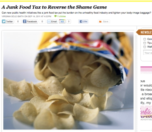 iVillage Never Say Diet Virginia Sole-Smith Junk Food Tax
