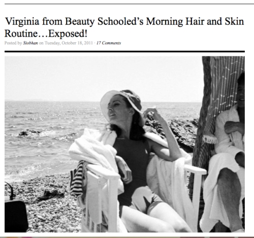 No More Dirty Looks Morning Beauty Routine Exposed Virginia Sole-Smith
