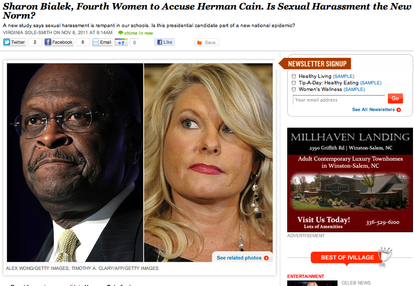 ivillage herman cain virginia sole-smith